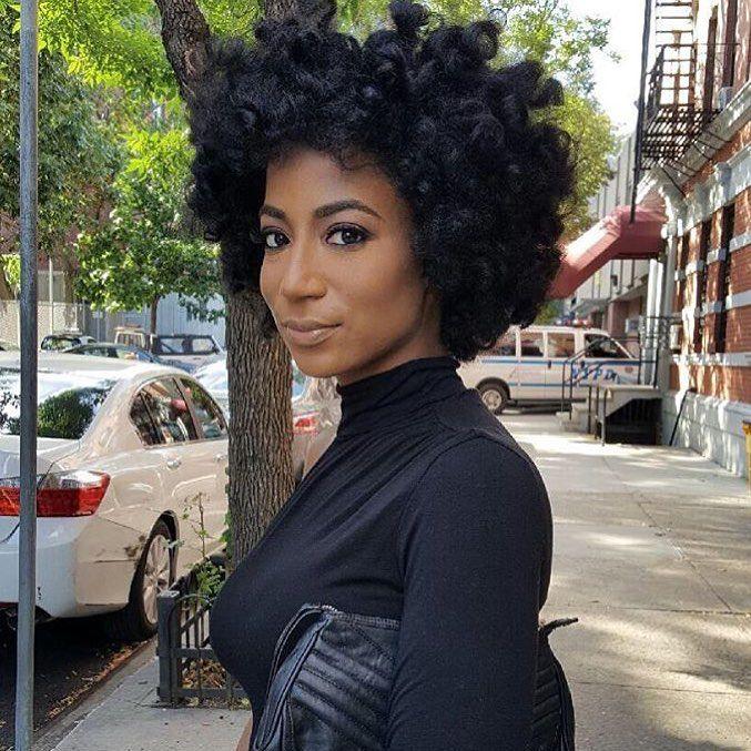 Hair!!! I love when Afros look fluffy. !