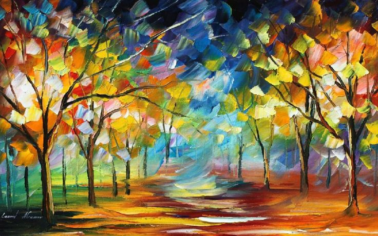 what art makes you want to make art- paintings with lots of bright
