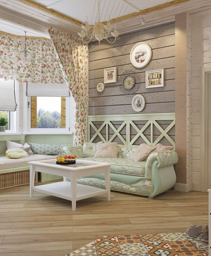 Получилось чудесное место для отдыха душой и телом! Гармония между провансом и эко стилем для очаровательной супружеской пары. В отделке стен и потолка оставили натуральное дерево, слегка затонировав его, на потолках сделали деревянные конструкции, которые визуально зонируют комнаты.