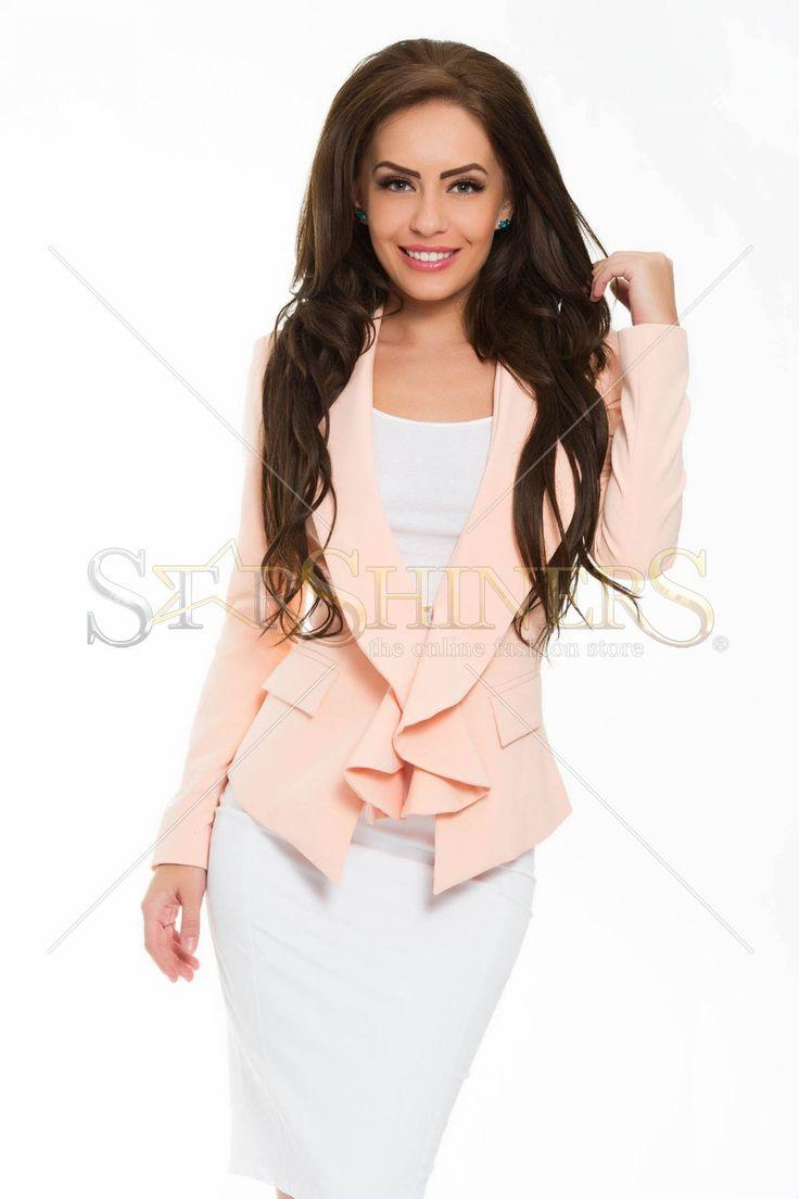PrettyGirl Striking Peach Jacket