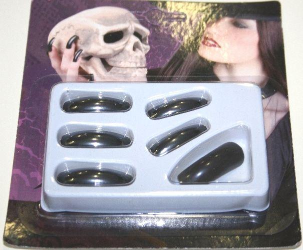 Unghie finte nere lunghe. Per travestimento a tema Strega ad Halloween. Disponibili da C&C Creations Store