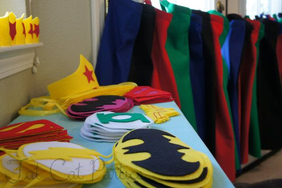Super hero party - Make your own cape to take home
