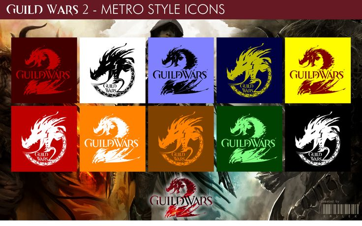 Guild Wars 2 - Metro Style Icons by xmilek.deviantart.com on @deviantART