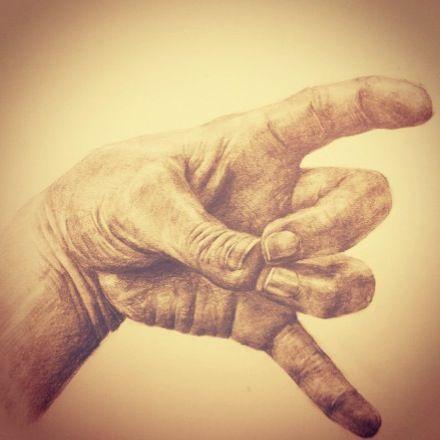 pencil drawing hand 손 소묘 연필