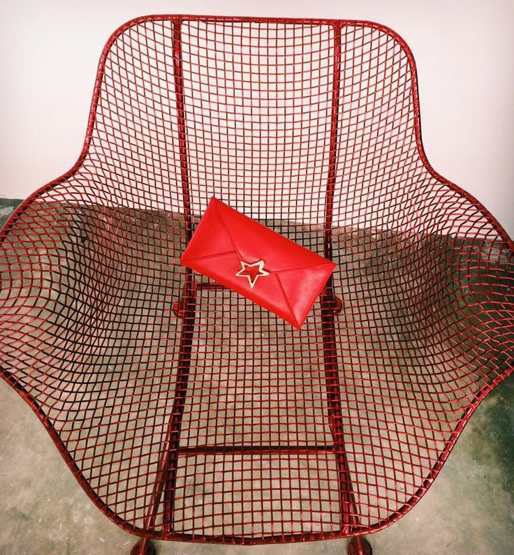 Bosco Star Vitello Red / bag star pochette /