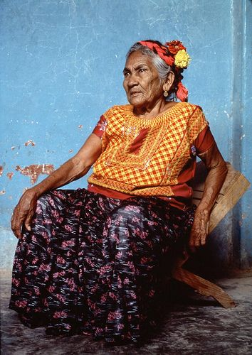 Frida's textile inspiration: Zapotec Indian woman