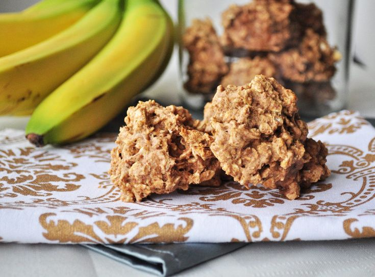 peanut butter banana breakfast cookies: easy. not too sweet, but would be good with milk in the am.  also made bite size balls for school lunch snack