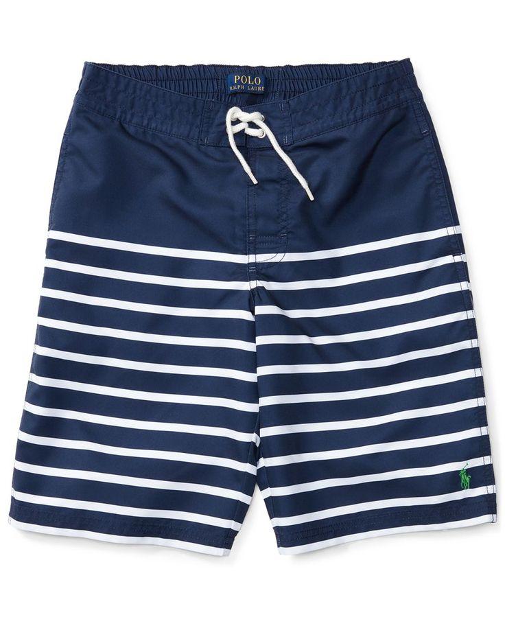 Ralph Lauren Striped Swim Trunks, Big Boys (8-20)