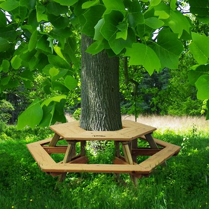 Tree Table Bench $638.95 #NaturalPlaygroundsCompany