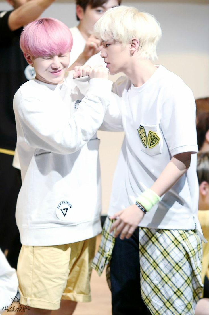 Cute Woozi vs Manly Hoshi on We Heart It