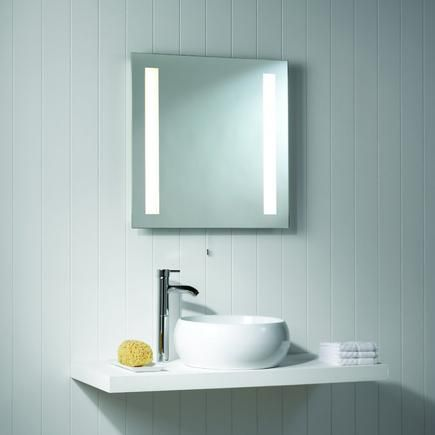 Rectangular Bathroom Mirror With Light And Switch