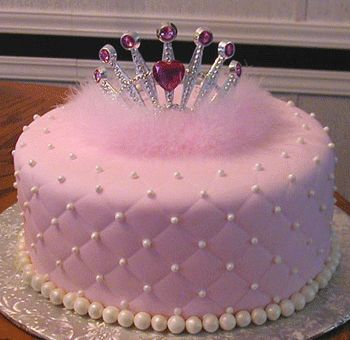cool birthday cakes for 9 year old girl | Take a look at this princess cake , complete with feathers and tiara ...