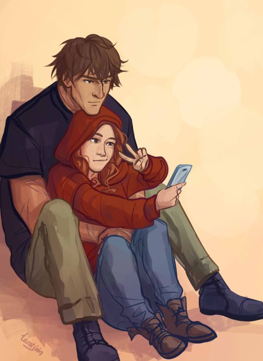 """there is only one thing wrong with this. Scarlet would totally be agains selfies. Like I can totally see thorne being all like """"Hey guys lets take a selfie!"""" and then scarlet would scream NO right in his face and walk away. But it's still a cute picture so i'm keeping it"""