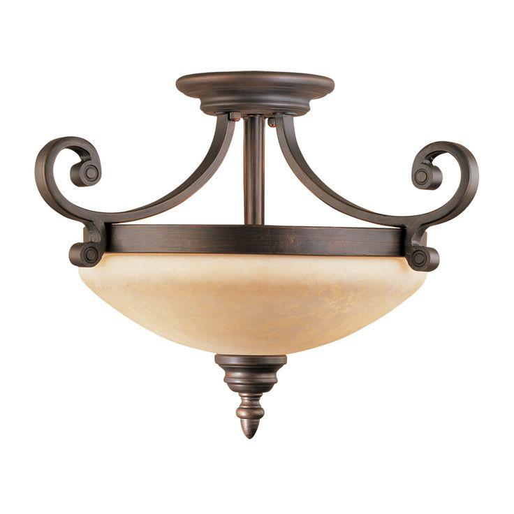 129 millennium lighting rubbed bronze semi flush mount with turinian scavo glass