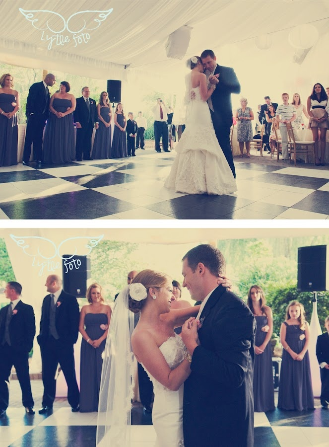 Christine And Matt Celebrating Their First Dance Under The Piedmont Garden  Tent! Hollie Lytle Photography