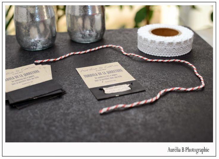 Aurelia B Photographie: Mon mariage DIY : des tickets de tombola pour la j...