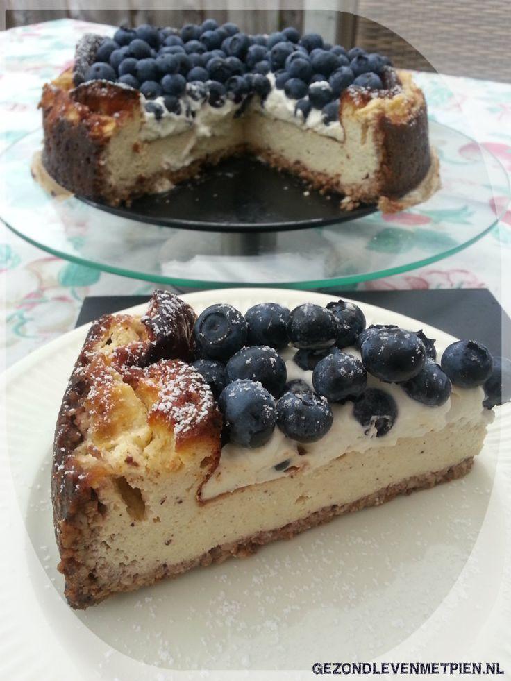 Recept voor glutenvrije cheesecake met blauwe bessen