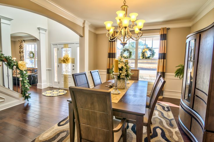 springfield model home dining room larkin woods