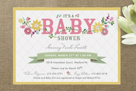 Among the Wildflowers Baby Shower Invitations by cadence paige design at minted.com