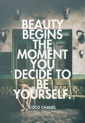 Beauty begins the moment you decide to be yourself. - Coco Chanel // In need of a detox? 10% off using our discount code 'Pinterest10' at www.ThinTea.com.au