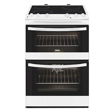 Buy Zanussi ZCV66000WA Electric Cooker, White Online at johnlewis.com
