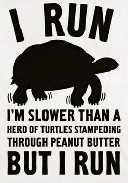 It doesn't matter how fast you run!