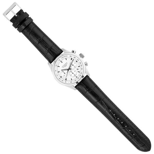 Orologio cronografo quadrante bianco,cinturino in pelle € 148