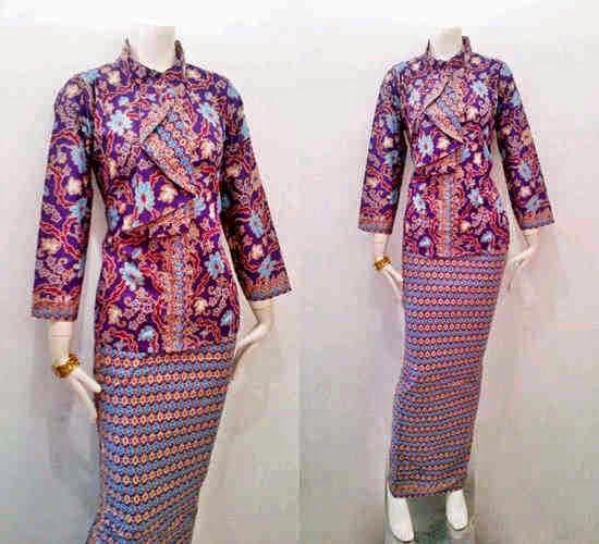 Model Baju Batik Pramugari Motif Mawar | Batik, ikat, tenun dan