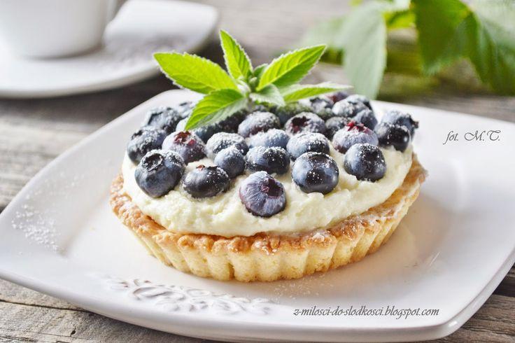 Z miłości do słodkości...: Tartaletki z borówką amerykańską