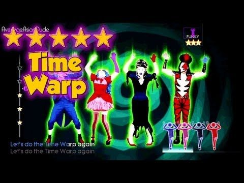 Gangsters exercise daily doing  pelvic exercises so they don't wet themselves during hectic moments. ;-)   Just Dance 4 - Time Warp - 5* Stars