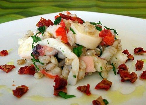[foto]insalata tiepida di mare con orzo e farro