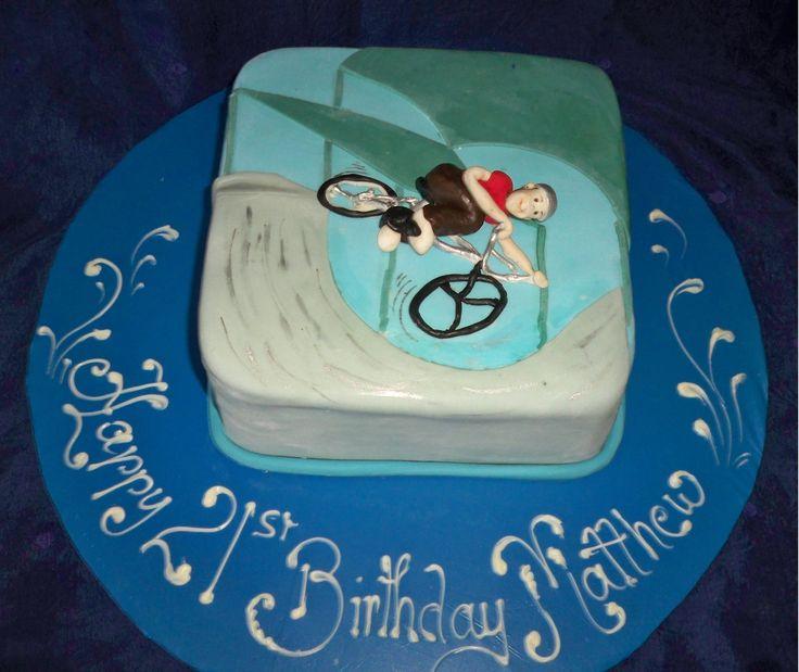 BMX rider cake http://www.elisabethscakes.com.au