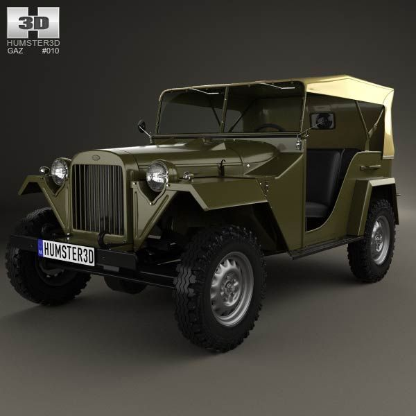 GAZ-67 1943 3d model from humster3d.com. Price: $75