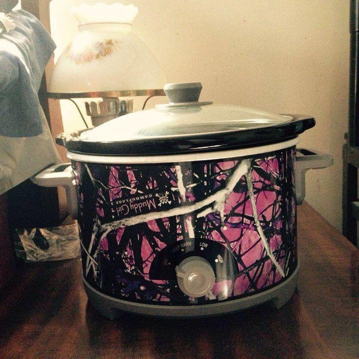 Pink Camo Crock pot