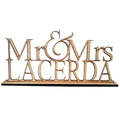 Personalised Mrs & Mr Bamboo Words