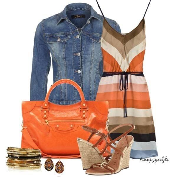 Cute; love the orange.