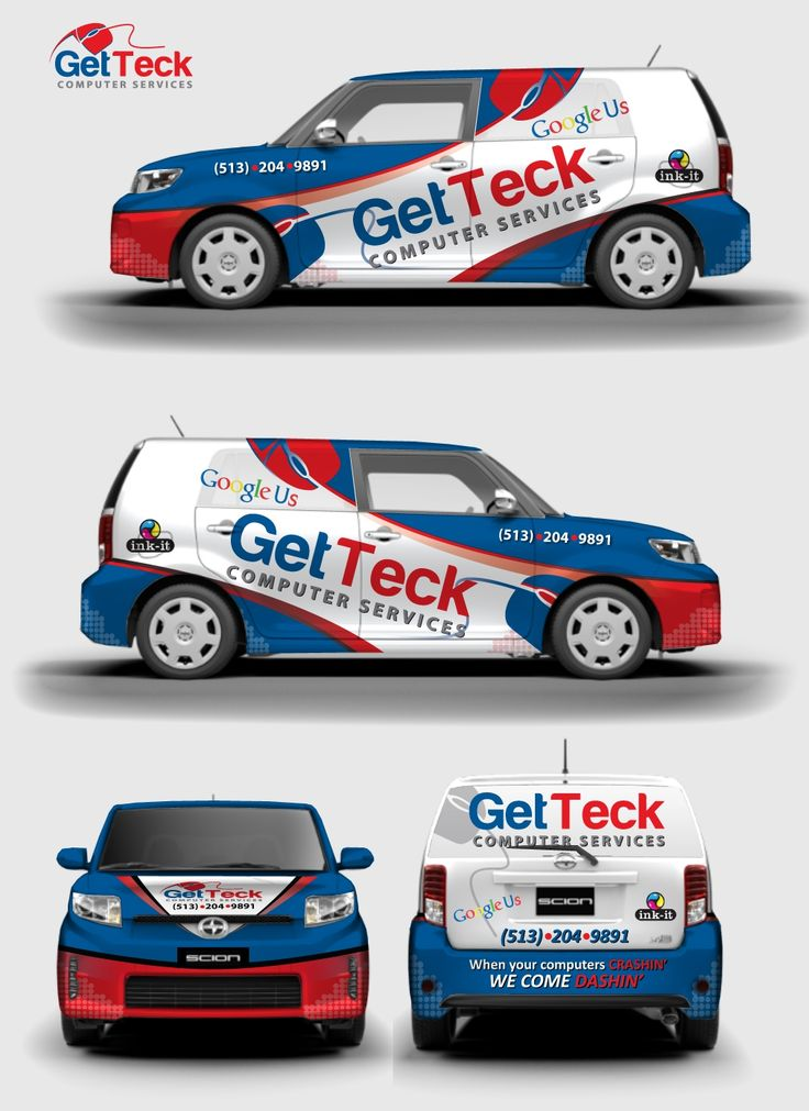 GetTeck Computer Services with a Vehicle Wrap