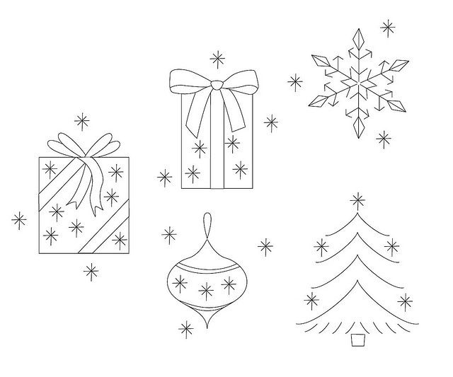 Christmas embroidery patterns by What Katie Does, via Flickr