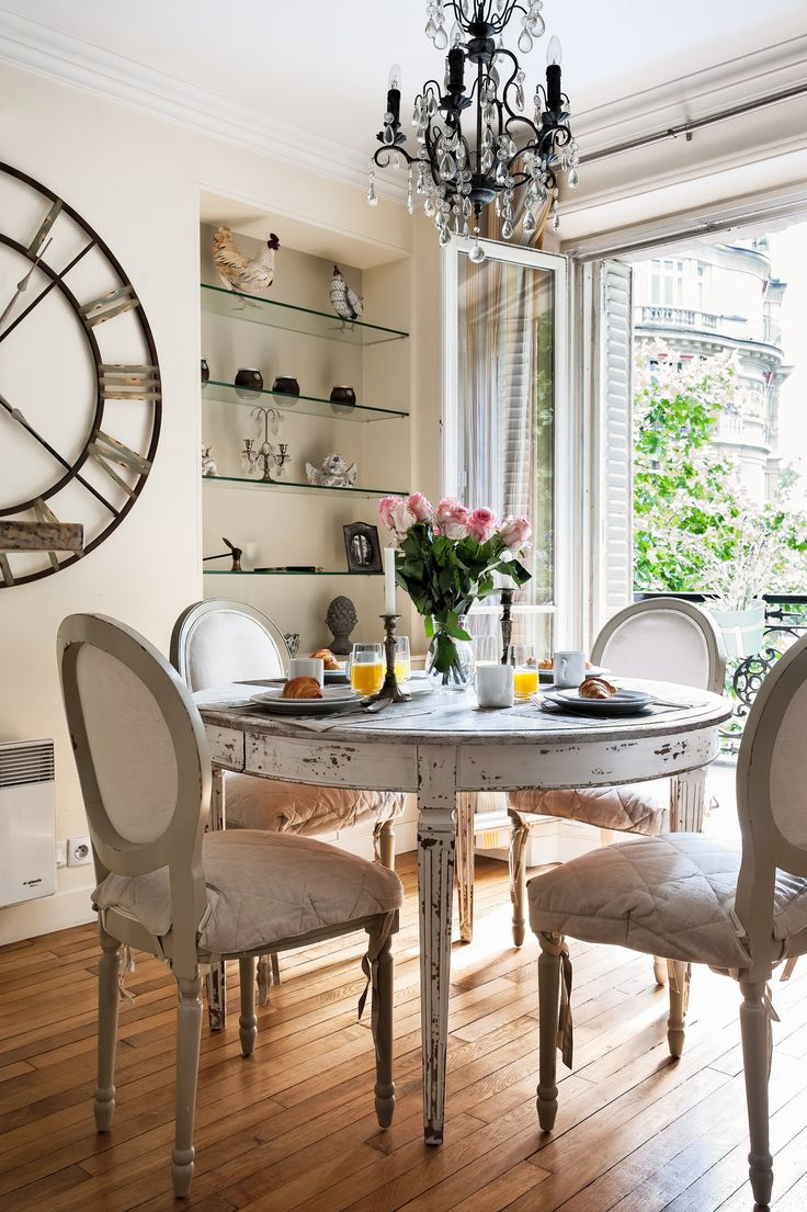 Imagine being able to enjoy meals with views of gorgeous Parisian buildings outside your French window! From the Saint Julien apartment rental | Paris Perfect