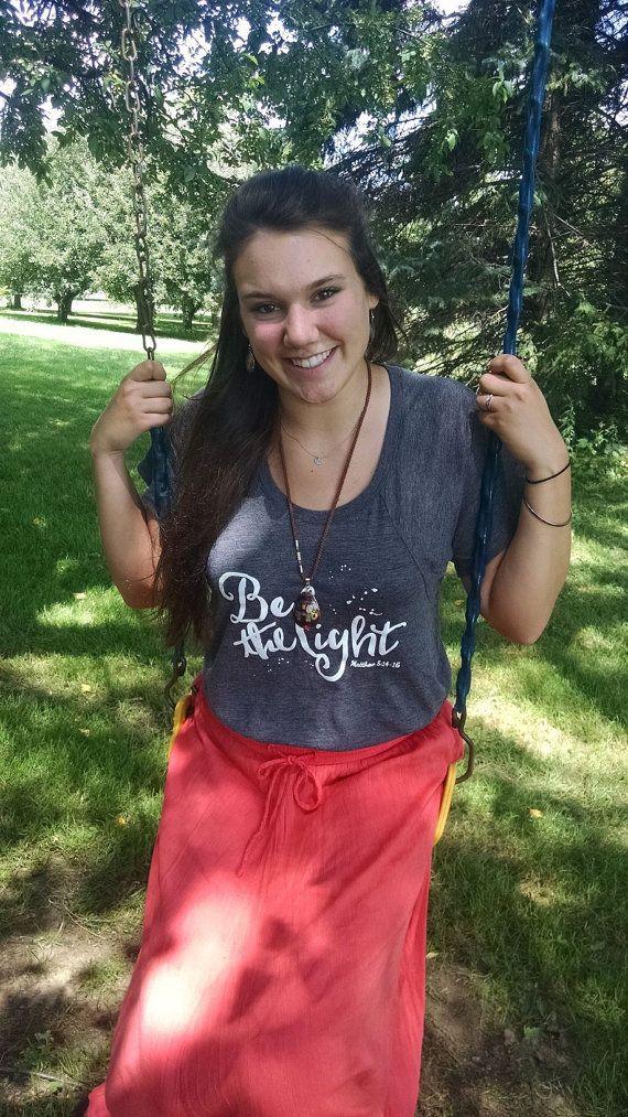 Be The Light Women's T-shirt Matthew 5:14-16  by OhTinyGifts