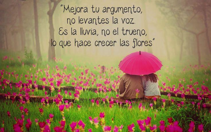 """""""Mejora tu argumento, no levantes la voz. Es la lluvia, no el trueno, lo que hace crecer las flores""""  — Rumi #HiperactividadCreativa"""
