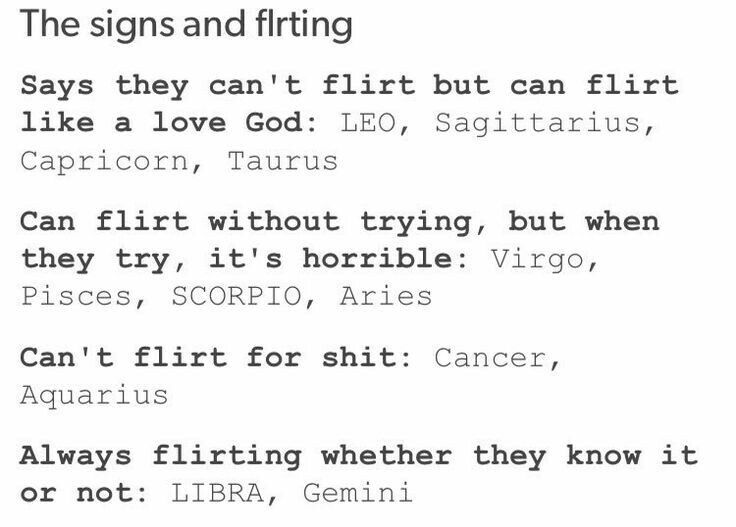Well would you look at that apparently i 39 m a flirt god - Mi signo zodiacal ...
