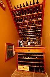 Image result for understairs wine storage