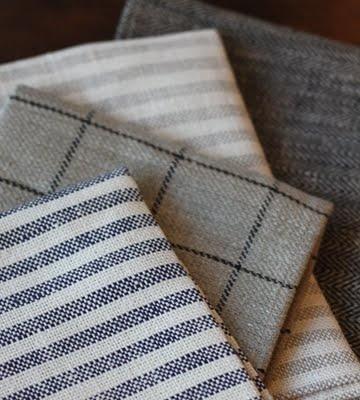 Fog linen striped tea towels from Alder & Co.