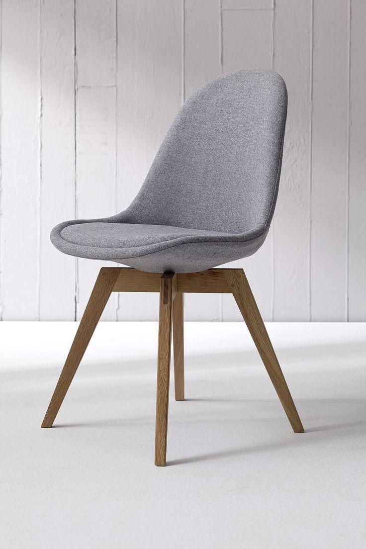 2x Stuhl BESS fabric grau/eiche || Tenzo BESS