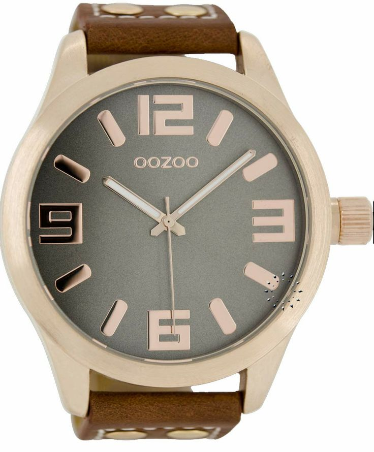 OOZOO Large Rose Gold Timepieces Brown Leather Strap Μοντέλο: C1106 Η τιμή μας: 65€ http://www.oroloi.gr/product_info.php?products_id=38506