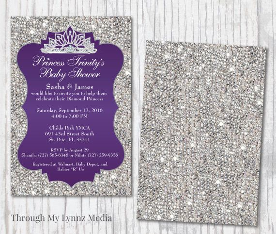 Check out this item in my Etsy shop https://www.etsy.com/listing/261455565/bling-baby-shower-invitations-diamond