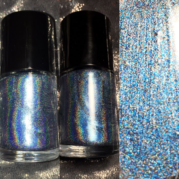 A more holographic version of Midnight Kiss 2.0. This a lighter aluminum blue. Opaque at 2-3 coats depending on preference.