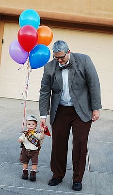 "homemade father-son ""up"" costume"