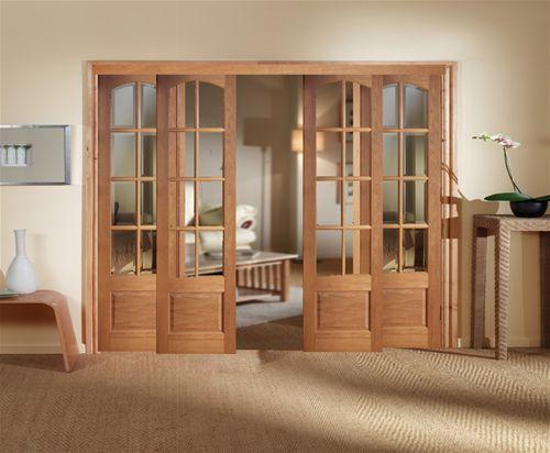 Sliding Privacy Panels | OAK NORBURY SLIDING DOOR ROOM DIVIDER SET   Wooden  Doors Ltd,